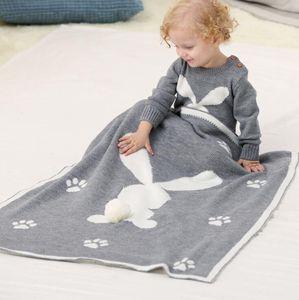 Bébé Lapin de Pâques Blanket 11 couleurs Tout-petit bébé Enfants doux Swaddle Tricoté Blanket Cartoon lapin 3D Couverture OOA7618-2