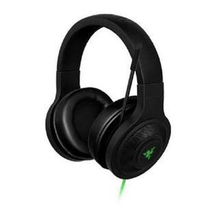 2020 neue Razer Kraken Wesentliche Kopfhörer-Geräusch Isolierkanne Over-Ear Gaming Headset verkabelt Analog 3,5 mm mit Mic für PC / Laptop / Telefon-Gamer