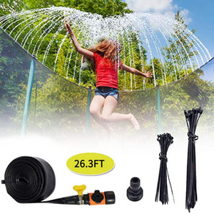 Summer Water Sprinkler Trampoline Sprinkler Outdoor Garden Water Games Toy Sprayer Backyard Park Accessories Game#g4