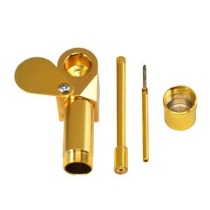 Messing Proto Pipe Rauchen Pfeifenascher Bowl Rauchrohre Metall tragbare goldenen Sliver Farbe Tool Herb DHL frei