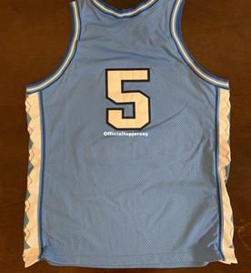 저렴한 희귀 빈티지 된 Nk NCAA UNC 노스 캐롤라이나 타르 힐 코타 # 5 조끼 저지 남성 XS-5XL.6XL 셔츠 스티치 농구 유니폼 레트로 NCAA