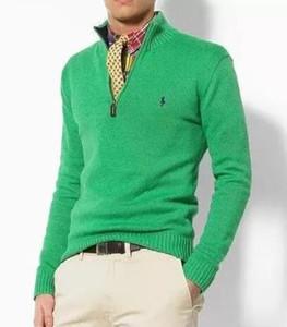 Mens-Winter-warme dünne Strickjacke Strickjacke Männer weichen Woll Knit Zip Up Neck Jacke Cardigan Pullover Sweater Top