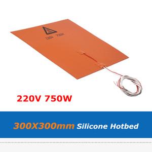 3M Adhensive 테이프와 3D 프린터 제품 실리카 젤 온상 패드 300 * 300mm 220V 750W 실리콘 고무 히터 열 침대