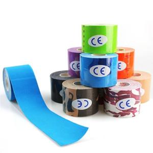15 colori 5M Kinesiologia Nastro Nastro Athletic recupero elastico Ginocchiera muscolare sollievo dal dolore al ginocchio Pad Supporto Gym Fitness Bandage