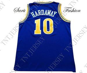 encargo baratos Tim Hardaway Jersey retro de baloncesto # 10 Azul cosido Personalizar cualquier número nombre HOMBRES MUJERES JÓVENES JERSEY XS-5XL