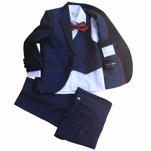 High Quality Gentleman Style Costume Flower Boys Prom Suit Tailor Formal Party Show Suits Jacket Vest Pants Tie Clothing Set
