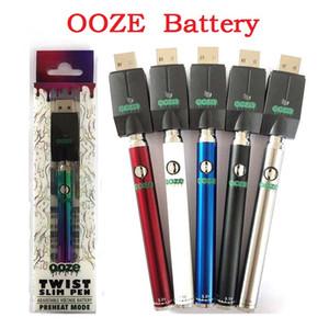 OO ZE Twist Préchauffez 350mAh Chargeur de batterie tension variable Kit Préchauffez batterie Bud tactile 510 fil Vape batterie VS Vmod Palm Law