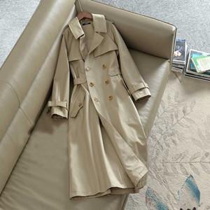 Designer Automne Mode Femmes Trench 2019 Manteau de poche Kaki Femmes Casual Trench en vrac veste style britannique Pardessus