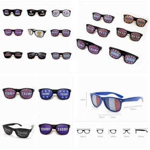 Donald Trump Sunglasses 2020 American President Election Supplies Rice Nail Sunglasses Plastic Sports Sunglasses Party Favor ZZA2270 200Pcs