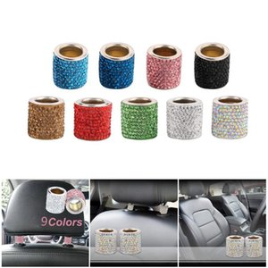 Accessories For Women Car Interior Accessories Car decoration Charms For Headrest Collars Automobile Luxury Crystal ornament