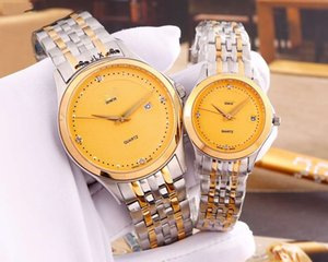 2020 Hot luxury couple watches stainless steel sapphire quartz movement wristwatches mens women lover designer watches montre de luxe