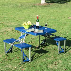 Outsunny tragbare Falten Kunststoff Camping Picknick-Tisch im Freien Garten-W / Gehäuse