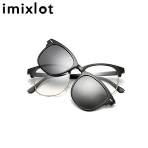 IMIXLOT 5pcs Magnetic Clip Sunglasses Women Glasses Polarized Eyeglasses Myopia Optical Reading Frame with Package MX200619