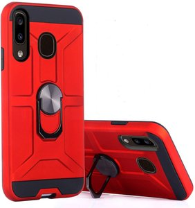 For Samsung J3 Pro S3 S4 S5 S6 EDGE G530H E5 J5 J7 A8 360°Rotation Metal Ring Shockproof Protection Magnetic PC TPU Armor Phone Case Cover