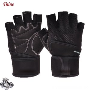 Drop Shipping Workout Gym for Men Fingerless Fitness Gloves with Wrist Strap Gloves Rekawiczki Gun Lights Hunting Weight Lifting Guantini