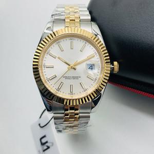 Мужской автоматическая механические часы 41MM Полного Браслет из нержавеющей стали Дата высокого качества Наручных часы Sapphire Супер Luminous U1 часы