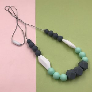 Women Beads All-Match For Mom Silicone Pendant Jewelry Accessories Necklace Handmade Neck Decoration Baby Teething