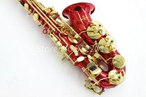 Yanagisawa A-992 Высококачественный латунный саксофон-альт New E Flat Eb Tune Instrument Красный лаковый корпус Золотой лаковый ключ Sax with Case