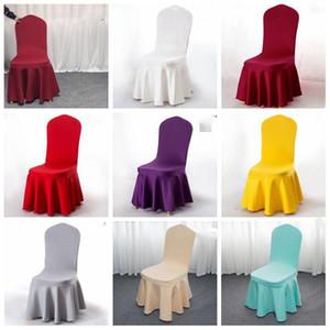 Coperture della sedia gonna a pieghe pendolo elastico congiunta del matrimonio sedia copertina a colori coprisedie caramelle sedie banchetti coprono LXL1009-1