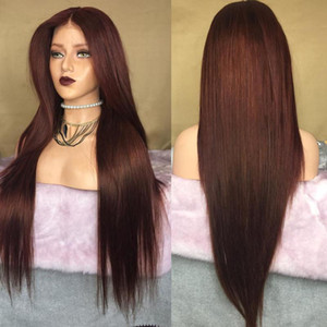 Malaysia Chestnut Brown Silky Straight Top Full Lytle Wiggs with Baby Hair 150denity 26Inch 13x6 Transparent Lytle Front Wargs