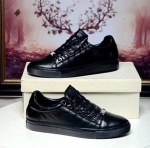 2019 New Designer Name Brand Man Casual Shoes Flat Kanye West Fashion Wrinkled Leather Lace-up Low Cut Trainers Runaway 0505080