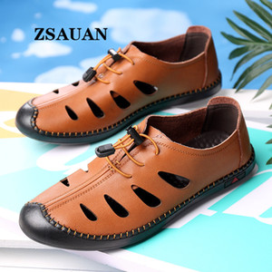 ZSAUAN Comfortable Classic Leather Men Summer Sandals Casual Beach Outdoor Daily Male Footwear Dropshipping