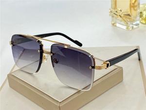 Novo Design de Moda Óculos de Sol 0982 Simples Quadrado Frameless Cristal Frame de Corte Popular Proteção ao Ar Livre UV400 Atacado Óculos