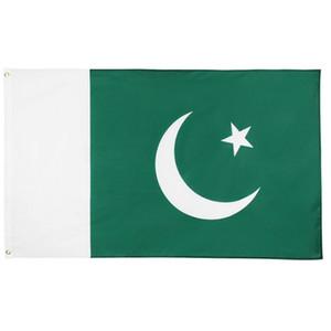 Pakistan Flagge 0.9x1.5m Polyester-Gewebe Jede Art Die Islamische Republik Pakistan Nationalflaggen 3x5 ft PAK Country Flag Banner