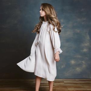 ZMHYAOKE 2020 Yaz Yeni Çocuk Giyim Ev Hizmet Kızlar Polka Dot Dantel Gecelik Noel Pijama Bebek Kız Giyim