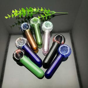 Цветные леденцы на стеклянной трубе оптом Стеклянный кальян, стеклянные фитинги для водопровода, для курения, бесплатная доставка
