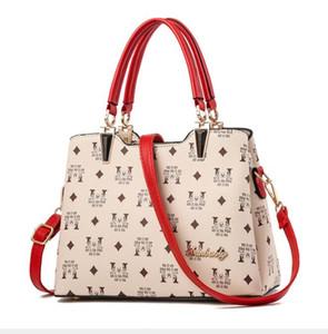 Fashion print Women bag brand women Leather Handbags Luxury Lady Hand Bags With Purse Pocket Women messenger bag Large tote womens bags