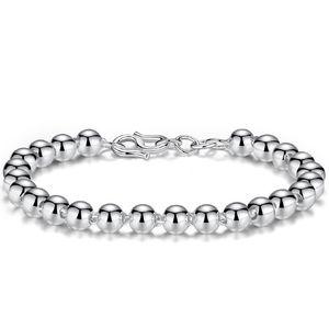 Suave Bola Pulseira De Prata Bead Bangles Para As Mulheres Homens Casais Amante Do Casamento Felicidade Sorte Bênção Fivela Cadeia Charm Bracelets