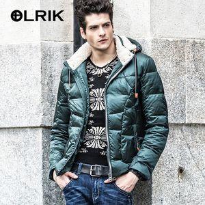 2016 Erkekler Kış Down Jacket Coats Kısa Kalın paltolar Erkek Giyim Tüy Elbise Kış Ceketler Nordic Stil Tasarım