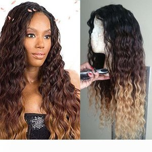 #1b 4 27 Three Tone Deep Wave Ombre Lace Front Wig Glueless Ombre Lace Wig Full Lace Wigs Ombre For Black Women