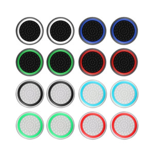 2 Pcs Silicone Analog Thumb Stick Grips Cover For Playstation 4 PS4 Pro Slim For PS3 Controller Thumbstick Caps For Xbox 360 One