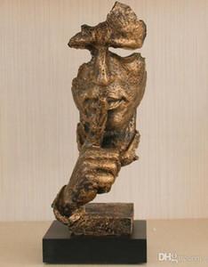 schweigt Sie Ornament Gold Schweigen ist Gold Harz Handwerk Geschenk