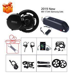 Bafang 48 V 750 W Mid Motor e-bike Kits de conversión SCP BMS batería de litio 17.5Ah Samsung celdas Ebike BBS02B bicicleta eléctrica parte