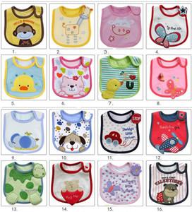 204 Styles 3 layers Baby Bibs Bandana Cotton Burp Cloths Baby Feeding Waterproof Bib Infant Saliva Towel Cartoon Accessories M2034