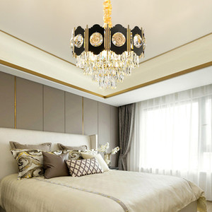 Новая коллекция современного K9 хрустальная люстра освещает современные черные люстры освещения гостиной Фойе спальни привели подвесной светильник