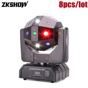 80% de descuento 16 * 3W RGBW LED Laser Beam Cabeza móvil Licht Strobe Pro DJ Disco Party Audio Luces de sonido Equipo de efectos de escenario Luz DJ Ball