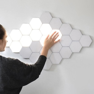 BRELONG LED Quantum Hexagonal Wall Lamp Modular Touch Sensor Light Fixture Smart Light DIY creative geometric assembly