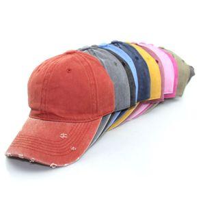 Vintage Washed Dyed Baseball Cap Low Profile Adjustable Unisex Classic Plain sport outdoor summer Dad Hat Snapback LJJA3794
