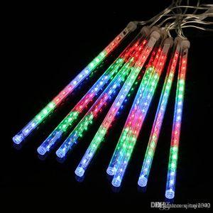 Çok Renkli 13.1ft Meteor Yağmuru Yağmur Tüpleri 8 LED Noel Işıkları Düğün Bahçe Noel Dize Işık Açık Kapalı dekor