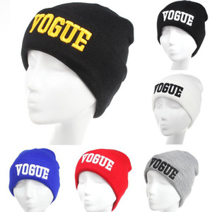 Winter Wool Cap Unisex Embroidery Knitted Hats Fashion Letter Patterns Hat for Men And Women Winter Hat