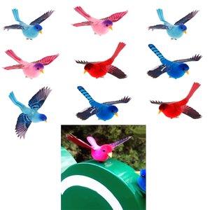 10x artificielle clip réaliste mousse plumes Oiseaux Jardin Artisanat Décoration
