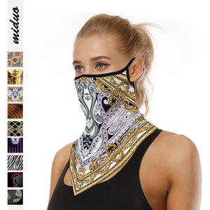 Senderismo Bufanda de ciclo cuello de la mascarilla de múltiples funciones ligero y transpirable a prueba de polvo escalada al aire libre anti-sudor Hairband Cabeza