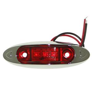 Sencart 1 قطعة 3 × 2835 الأحمر LED التخليص الجانب ماركر الخفيفة شاحنة سيارة فان مقطورة مصباح DC12V