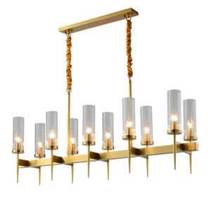 Işık Tavan Işık PA0604 Asma Modern Altın Metal Net Cam Sarkıt Vintage Ev Salon