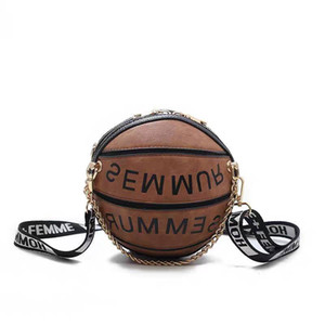 Forma de baloncesto gancho de bolsa Bolsas Cruzado Para Mujeres 2020 Bolsas Cadenas niñas monedero y bolsos de mano para las mujeres del bolso de la etiqueta del equipaje de cuero