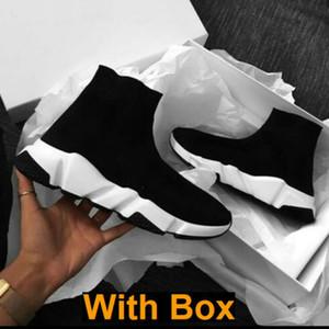 Mit Box 2019 Socks Speed-Trainer Knit Paris Socken Schuh-Socken-Strick Triple S Stiefel Turnschuhe Runner Sneakers Arthur